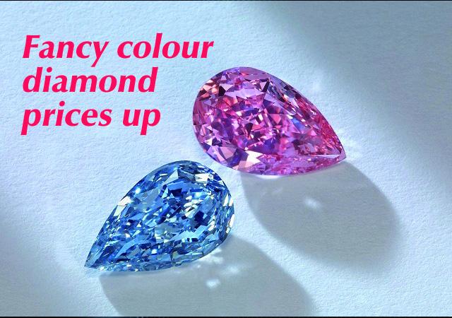 Fancy colour diamond prices up on US rebound